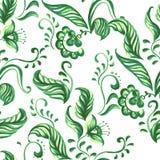 Картина флористического орнамента вектора голубая безшовная иллюстрация штока