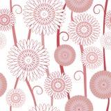 Картина флористической предпосылки безшовная Стоковые Фотографии RF