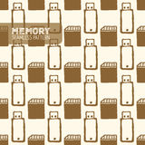 Картина флэш-память безшовная Стоковое фото RF