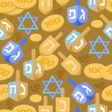 Картина Хануки безшовная праздник еврейский также вектор иллюстрации притяжки corel Стоковые Изображения
