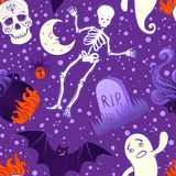 Картина хеллоуина милая безшовная Стоковые Изображения