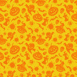 Картина хеллоуина оранжевая безшовная бесплатная иллюстрация