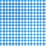 Картина холстинки безшовная Голубая итальянская скатерть Сказ c пикника Стоковая Фотография