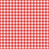 Картина холстинки текстуры безшовная Красные Checkered текстильные продукции Vector квадраты или косоугольник иллюстрации для шот иллюстрация штока