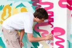 Картина художника надписи на стенах Стоковые Изображения RF