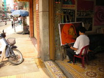 Картина художника в Вьетнаме Стоковое Фото