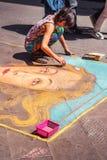 5 05 2017 - Картина художника улицы на мостоваой в Флоренсе Стоковые Фотографии RF