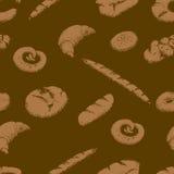 Картина хлебопекарни безшовная иллюстрация штока