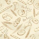 Картина хлебопекарни безшовная иллюстрация вектора