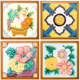 Картина цветастая самомоднейшей плитки поверхности типа стоковое изображение
