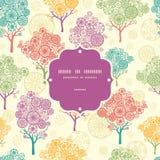 Картина цветастой абстрактной рамки деревьев безшовная Стоковые Фото