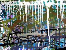 Картина цвета абстрактного искусства акриловая на холсте красочной предпосылки Стоковая Фотография RF