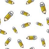 Картина цвета карандаша безшовная также вектор иллюстрации притяжки corel Стоковая Фотография RF