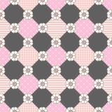 Картина цветет тема пастели геометрии Стоковое Изображение