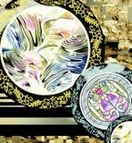 картина цветка акварели цифровая на черноте бесплатная иллюстрация