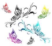 картина цветка бабочек Стоковое Фото