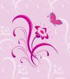 картина цветка бабочки безшовная Стоковые Фото