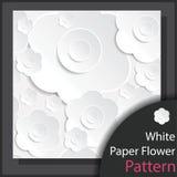 Картина цветка белой бумаги - вектор Стоковая Фотография
