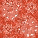 Картина цветка вектора безшовная Стоковая Фотография