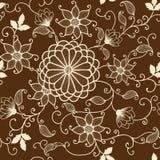 Картина цветка вектора безшовная Стоковое Фото