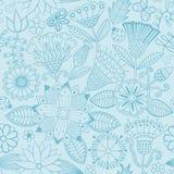 Картина цветка вектора Черно-белая безшовная ботаническая текстура бесплатная иллюстрация