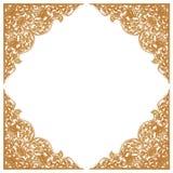 Картина цветка высекла рамку на белой предпосылке Стоковые Изображения RF