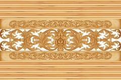 Картина цветка высекла на древесине для украшения Стоковые Изображения