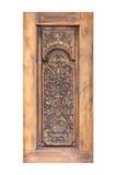 Картина цветка высекла на древесине для украшения Стоковое Изображение