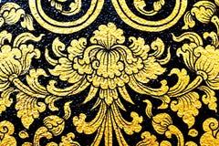 Картина цветка в традиционном тайском стиле Стоковое Изображение