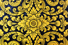 Картина цветка в традиционном тайском стиле Стоковое Фото