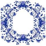 Картина цветка в форме круглой рамки стоковые изображения rf