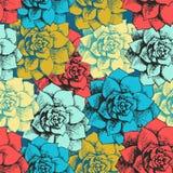 Картина цветка год сбора винограда безшовная Стоковые Изображения RF