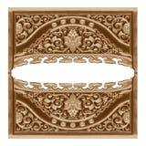 Картина цветка деревянной рамки высекла на белизне Стоковые Изображения RF