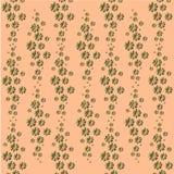 Картина цветка: золотые малые цветки космоса на светлой предпосылке персика - красивой пастельной печати Стоковые Фотографии RF