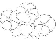 Картина цветка и бабочки Стоковое Изображение
