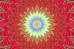 Картина цветка калейдоскопа предпосылки красная геометрическо иллюстрация вектора