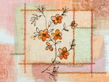 Картина цветка классических обоев винтажная Стоковое Изображение