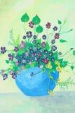 Картина цветка на холстине Стоковые Изображения RF