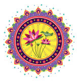 Картина цветка лотоса Стоковая Фотография RF