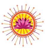 Картина цветка лотоса Стоковые Изображения RF