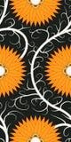 картина цветка померанцовая безшовная Стоковое Фото