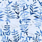 Картина цветка с тропическими заводами Акварель для des цветка бесплатная иллюстрация