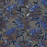 Картина цветка с тропическими заводами Акварель для des цветка Стоковые Фотографии RF