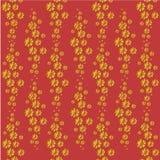 Картина цветка: цветки cosmece на предпосылке терракоты - роскошная печать желт-апельсина малые ткани Стоковая Фотография RF
