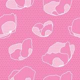 Картина цветка шнурка безшовная Стоковая Фотография