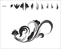 Картина цветка щетки Стоковое фото RF