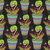 Картина цветка Muscipula Стоковые Изображения RF
