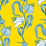 картина цветков безшовная также вектор иллюстрации притяжки corel Стоковое Фото