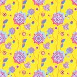 картина цветков безшовная также вектор иллюстрации притяжки corel Стоковая Фотография RF