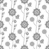 картина цветков безшовная также вектор иллюстрации притяжки corel Стоковые Фото
